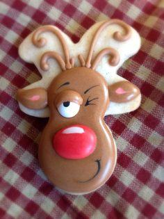 Drunken reindeer cookie
