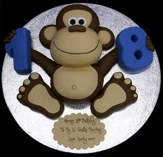 A monkey cake for our little monkey