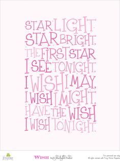 Star light Star bright printable