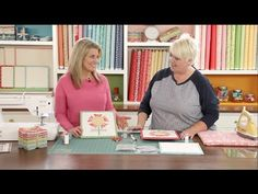 """Lori Holt demonstrates appliqué techniques used to make her """"Bloom"""" quilt with her Calico Days fabric line from Riley Blake Designs."""