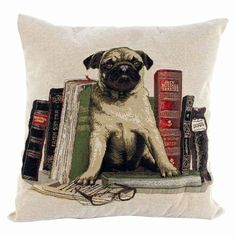 Fabric Cushion Educated Dog available on Wysada.com