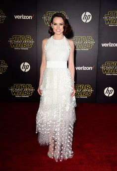 Daisy Ridley in Chloe at the LA premiere for Star Wars: The Force Awakens on December 14, 2015.
