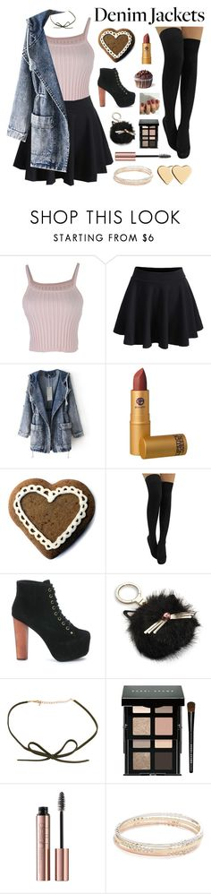 """// 10 . 6 . 16 / 1 //"" by jamanabetsy ❤ liked on Polyvore featuring WithChic, Lipstick Queen, Jeffrey Campbell, Kate Spade, DOSE of ROSE, Bobbi Brown Cosmetics and Lipsy"