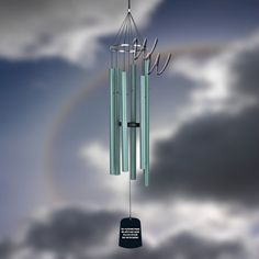 """44"""" Verdigris wind chime by Cambridge Wind Chimes.   $84.98   http://whimsicalwinds.com"""