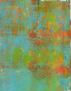 Part of my Gelli printing plate frenzy last night! Tomorrow I head off to my mixed-media class with Gelli in hand and a few of my prints from yesterday. I'll try collaging on top of them or adding some painted elements. We'll see where the day takes me and I will report back soon with some pictures.