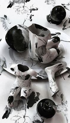 Tattooed porcelain Kim Joon, Korea
