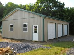 """Building Dimensions: 30' W x 40' L x 10' 4"""" H (ID# 352)  Visit: http://pioneerpolebuildings.com/portfolio/project/30-w-x-40-l-x-10-4-h-id-352-total-cost-15615  Like Us on Facebook! www.facebook.com/... Call: 888-448-2505 for any questions!"""