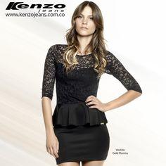 Un vestido con blonda te hará ver delicada y muy elegante, perfecto para ocasiones especiales. #KenzoJeans www.kenzojeans.com.co