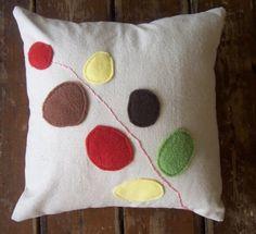 modern flower pillow. $40.00, via Etsy.