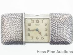 Scarce Hand Hammered Sterling Silver Movado Ermeto Pocket Purse Watch #Movado