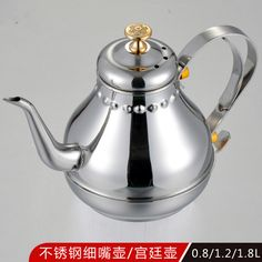 Stainless Steel Water Kettle Europe Style Hot and Cold Coffee Pot Hotel Water Pot 0.8/ 1.2/ 1.8L