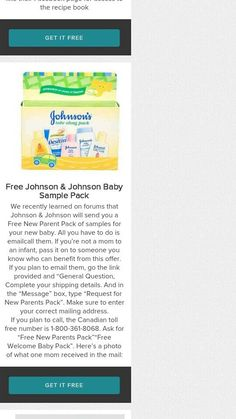 Free baby sample pack!