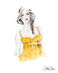 '2 strap neckline + Classic Braid' by © Cristina Alonso (www.cristinalonso.com) for Secretos de Chicas, Patry Jordan (Penguin Random House) on Behance
