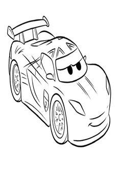 Cars Lightning Mcqueen Printable Colouring Sheet Ecoloringpage