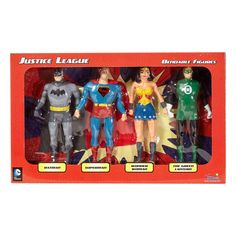 DC Comics - Justice League 4-Piece Bendable Figures Set: Batman, Superman, Wonder Woman, The Lantern