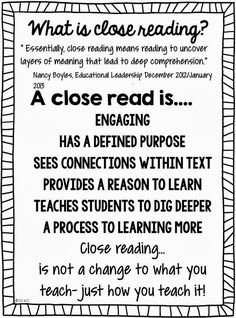 Close Reading Defined | Community Post: 21 Cool Anchor Charts To Teach Close-Reading Skills