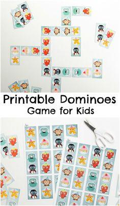 Printable dominoes game for kids