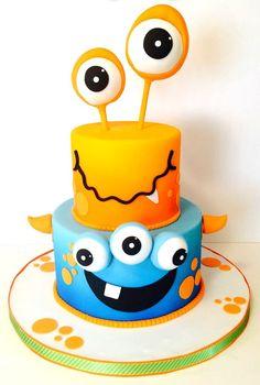 Resultado de imagen de Monster Theme Birthday Cake