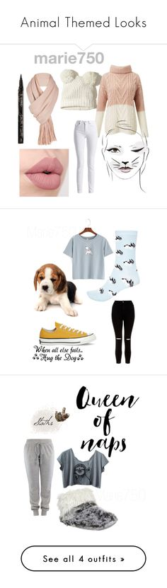 """""""Animal Themed Looks"""" by marie750 ❤ liked on Polyvore featuring Hollister Co., Miss Selfridge, Free People, Barbour International, Smith & Cult, WithChic, New Look, Converse, River Island and Bedroom Athletics"""
