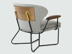Upholstered fabric armchair with armrests CHILLAX QT Collection by STELLAR WORKS | design Nic Graham