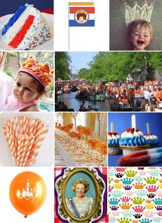 Koninginnedag / Queensday 30 April Everything (and everyone) turns orange. Dutch People, Kings Day, My Big Love, Netherlands, Holland, Joy, Diy Things, Royal Families, Country