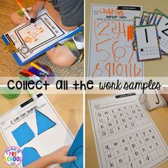 Organization HACKS to make student portfolios and assessments easier. For preschool, pre-k, and kindergarten. #preschool #prek #assessment #studentportfolio Special Education Classroom, Early Education, Classroom Themes, Future Classroom, Preschool Assessment, Preschool Classroom, Preschool Ideas, Teacher Binder Organization, Organization Hacks