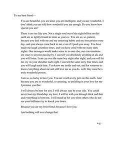 To my best friend ♥