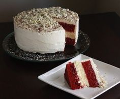 """Enjoy the best of both worlds by creating this simple cheesecake recipe AND vintage red velvet cake recipe all in one! Cheesecake Factory recipes are some of the most sought after sweet treats around. Bake up this wonderful cake and top it with luscious cream cheese frosting for a final touch. It's a great dessert recipe for birthday parties, family get-togethers, and more. Make any day a cause for celebration with this restaurant inspired cake recipe. This cake will bring the """"wow"""" factor…"""