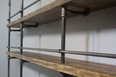 Industrial Shelving Unit (industrial Bar, Industrial Bookcase, Industrial…