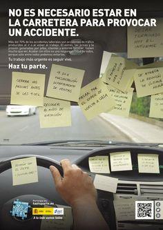 Un accidente de tráfico. Campaña de la DGT