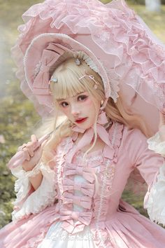 Vintage Hinana -Rococo- Vintage Classic Lolita OP Dress (Preorder - 9 Colors Available) - Harajuku Mode, Harajuku Fashion, Kawaii Fashion, Cute Fashion, Fashion Outfits, Rock Fashion, Emo Fashion, Moda Lolita, Lolita Mode
