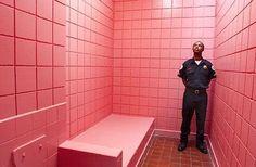Baker-Miller-Pink. Un rose des plus reposant et décontractant. En atteste une expérience réalisée dans plusieurs prisons américaines et européennes. Résultats : après une exposition de quelques minutes, les détenus sont nettement plus calme et coopératifs. Les effets de cette exposition au rose continueraient même un quart d'heure après être sorti de la cellule Barbie. (Source : L'étonnant pouvoir des couleurs)