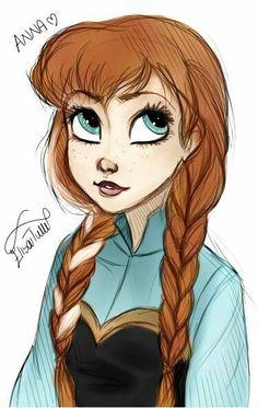 Not Mine :)soo pretty! Disney Princess Drawings, Disney Princess Art, Disney Princess Pictures, Disney Sketches, Disney Fan Art, Disney Drawings, Cartoon Drawings, Cute Drawings, Princess Anna