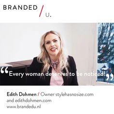 Edith Dohmen / owner stylehasnosize.com and edithdohmen.com