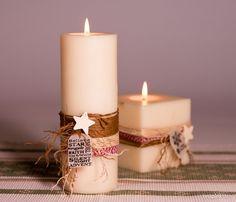 PASO A PASO: DECORACIÓN VELAS. Con plástico mágico vamos a crear un tag muy navideño para decorar nuestras velas. Christmas Time, Christmas Crafts, Christmas Decorations, Xmas, Candle Art, Candle Magic, Candle Accessories, Diy Centerpieces, Christmas Candles