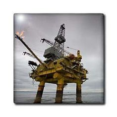 """Alaska, Industry, Offshore oil rig, Cook Inlet - US02 PSO1095 - Paul Souders - 12 Inch Ceramic Tile by 3dRose. $22.99. Clean with mild detergent. Construction grade. Floor installation not recommended.. Image applied to the top surface. Dimensions: 12"""" H x 12"""" W x 1/4"""" D. High gloss finish. Alaska, Industry, Offshore oil rig, Cook Inlet - US02 PSO1095 - Paul Souders Tile is great for a backsplash, countertop or as an accent. This commercial quality construction grade tile has a h..."""