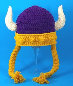 Minnesota Vikings Hat with braids