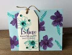 Hampton Art Blog: Believe in Yourself card by Patty Folchert