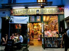Shakespeare and company bookstore.  the oldest English bookstore in Paris.  I bought my daughter a book there, Hamlet, I think.