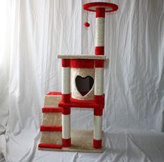 Gabriele Zechel - Hundekörbe, Le - Katzenkratzbaum / Kratzbaum / Kletterbaum Modell Tiragraffi-Cherry 128 cm von Ferribiella