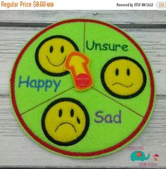 15% OFF Feelings emotions clock chart embroidered by DesignsByRAJA