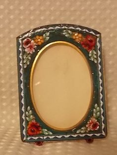 Vintage Miniature Picture Frame Micro Mosaic - Italy