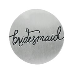 """Medium Silver Bridesmaid Plate   From engagement to wedding day, your friends have been by your side. Thank your bridal party with a Living Locket® featuring this Medium Silver Bridesmaid Plate. Make your favorite girls feel extra special by completing their looks with """"The Clara"""" Studs with Vintage Rose Crystals by Swarovski.  #origamiowl #livinglockets #bride"""