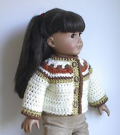 American Girl Doll Sweater Jacket for 18 inch by Lavenderlore, $20.00