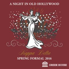 Kappa Delta Spring Formal T-Shirt Design Gallery | Greek House | KD | Kappa Delta | Formal | Social | Sorority | Greek Life | T-Shirt | Hollywood