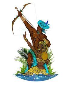 African Mythology, African Goddess, Orisha, Male Angels, Norse Tattoo, Hawaiian Art, Black Characters, Black Women Art, African American Art