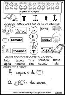 Livro famílias silábicas-letra T