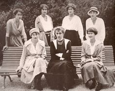 Infanta Marie Anne of Portugal with her six daughters August 1920