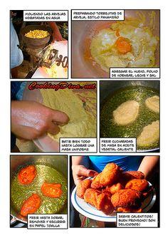 Cocina Tradicional de Panamá: Deliciosas Torrejitas de Arvejas - Split Pea Fritters (EN/ES) | Cooking Diva | The Blog of Tropical Chef, Melissa DeLeon