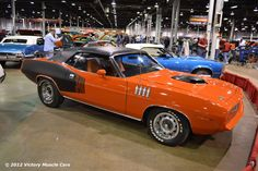 1971 Plymouth Cuda 340 at the 2011 Muscle Car and Corvette Nationals Pontiac Gto, Chevrolet Camaro, Corvette, Detroit, Plymouth Muscle Cars, Car Man Cave, Pony Car, Mustang Cars, American Muscle Cars